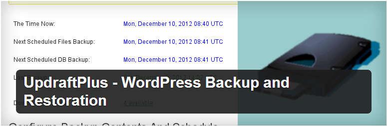 إضافة UpdraftPlus للووردبريس