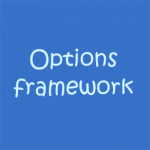 إنشاء لوحة تحكم للقالب بإستخدام Options framework
