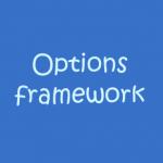 إنشاء لوحة تحكم للقالب بإستخدام Options framework
